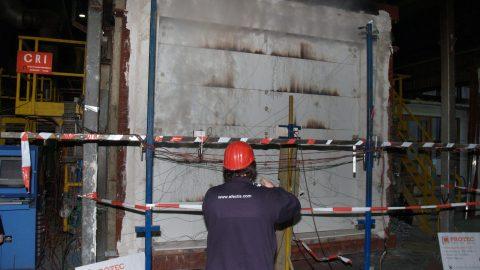 Sectional fireproof doors - tested by Efectis - Protec Industrial Doors
