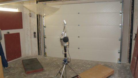 Soundtest Peutz - Sectional door - Protec Industrial Doors