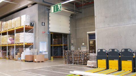 Fire-resistant overheaddoors - Lidl - Protec Industrial Doors