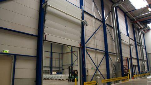 Firedoor with liquid retention barrier - Protec Industrial Doors