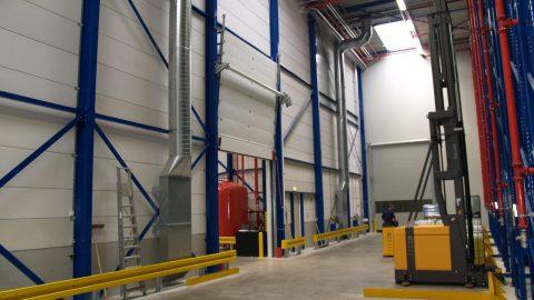 Liquid retaining fire-resistant overheaddoor - Protec Industrial Doors