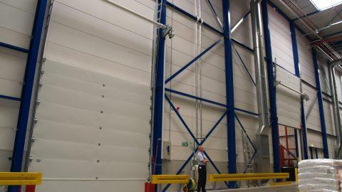Liquid retaining fire resistant up-and-over doors - Protec Industrial Doors