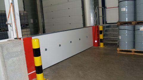 Liquid-retention barriers - ADR - Protec Industrial Doors