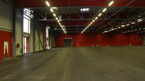 Sound insulating and fire-resistant overheaddoors in Poitiers, France - Protec Industrial Doors
